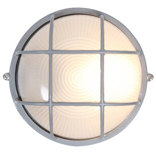 Compare Flintwood 1-Light 9W LED Outdoor Bulkhead Light By Beachcrest Home