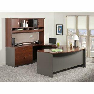 Series C Bow 4 Piece Desk Office Suite by Bush Business Furniture