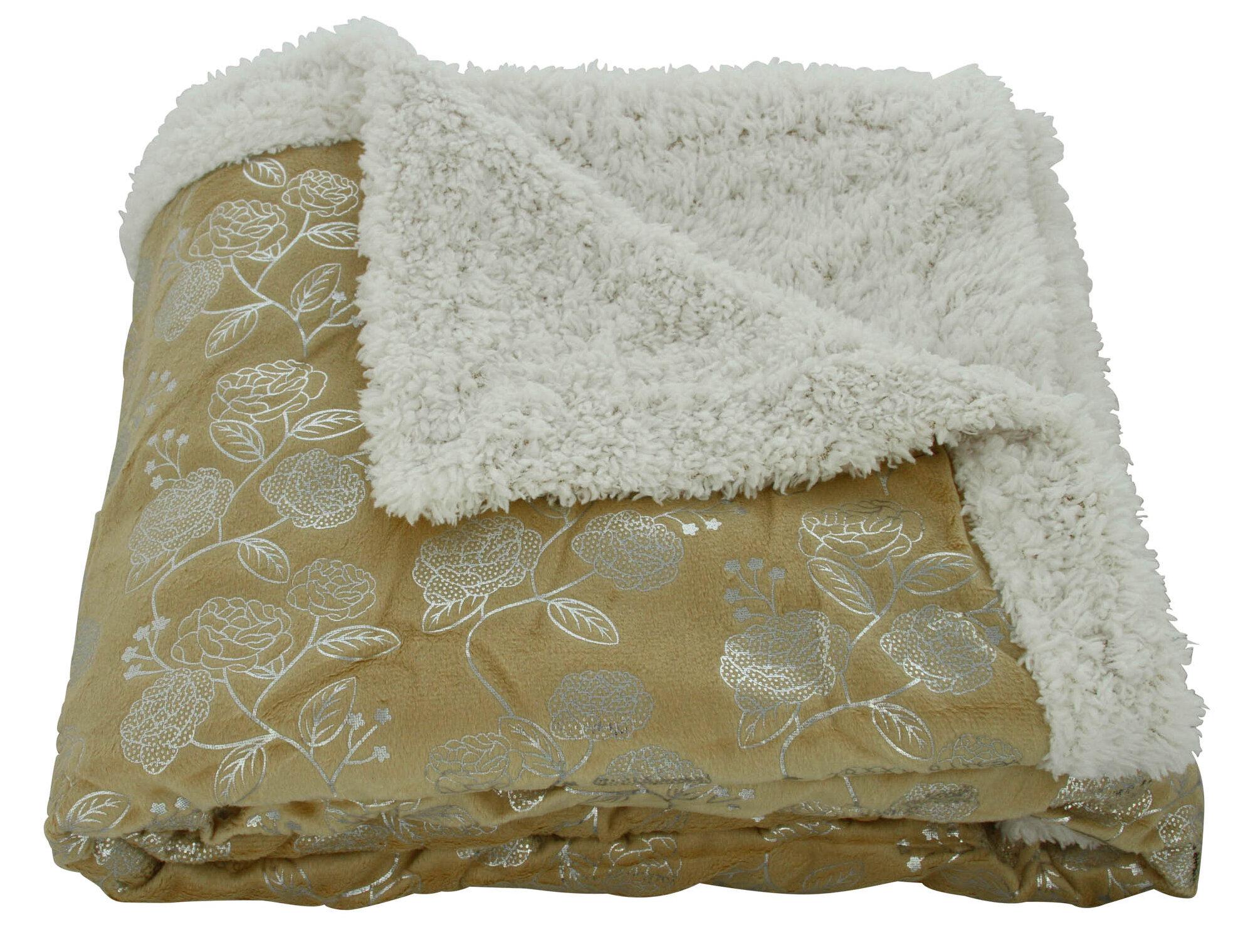 Plazatex   Sheradian Noble House Garden Sherpa Throw Blanket   Reviews  b23944c26