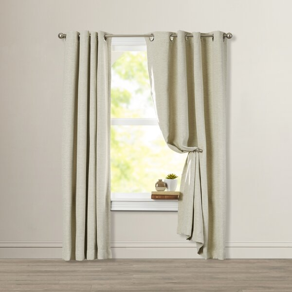 Charlton Home Mosslauder Solid Blackout Grommet Single Curtain Panel & Reviews by Charlton Home