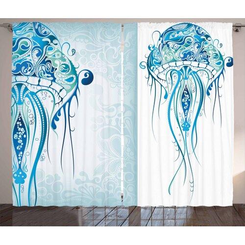 Marine Pencil Pleat Blackout Thermal Curtains East Urban Home Dimensions per curtain: 245cm H x 140cm W