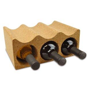 Teressa Cork 3 Bottle Tabletop Wine Rack by Wrought Studio