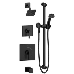 Symmons Duro Pressure Balanced Thermostatic Adjustable/Handheld Complete Shower System