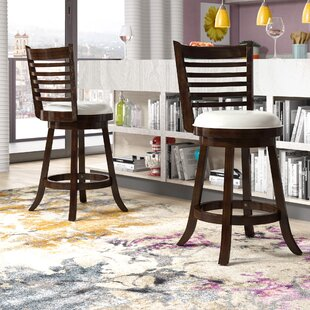 Leakey 24 Swivel Bar Stool (Set of 2) Latitude Run
