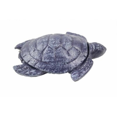Decorative Turtle Bottle Opener Handcrafted Nautical Decor Finish: Purple