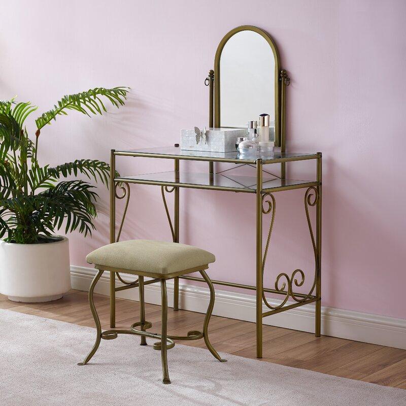 Dunkin Vanity Set with Mirror
