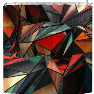 Danny Ivan Triangles Single Shower Curtain