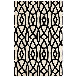 Big Save Rentz Ivory/Black Area Rug ByBrayden Studio