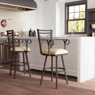 Berkhamsted 26 Swivel Bar Stool by Winston Porter