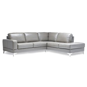 finch leather sectional - Sectional Leather Sofas