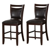 Holmgren Classic Wooden Armless 24 Counter Stool (Set of 2) by Charlton Home®
