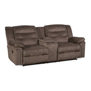 Serta Upholstery Charlestown Double Recliner Reclining Loveseat by Latitud..