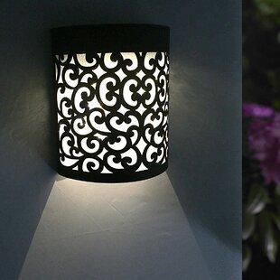 Fleur De Lis Living Clapton Solar Powered LED Outdoor Flush Mount