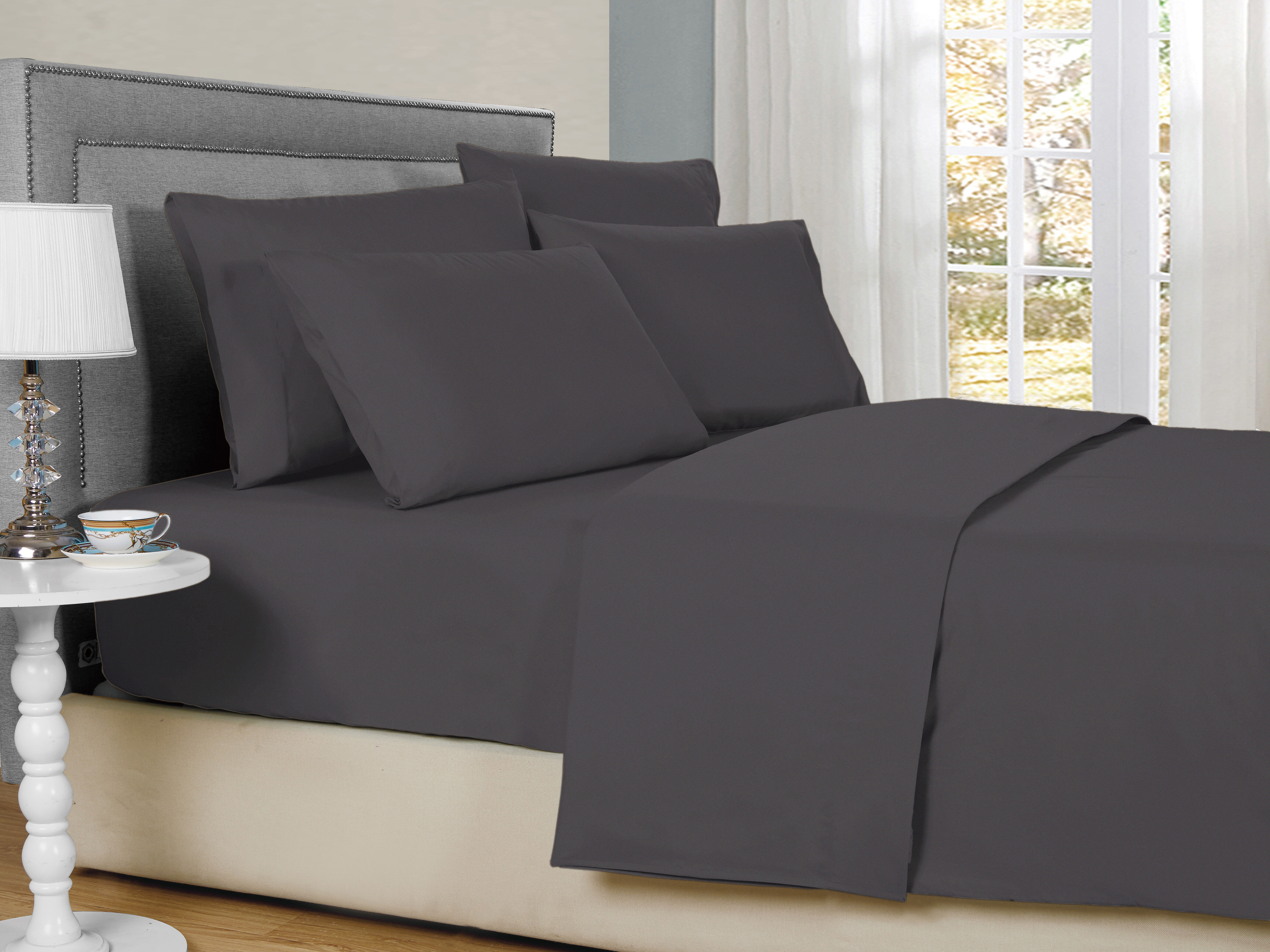 Heather Bamboo super king size bed fitted sheet Antibacterial. 100/% bamboo