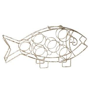 Treutlen Fish 6 Bottle Tabletop Wine Rack..