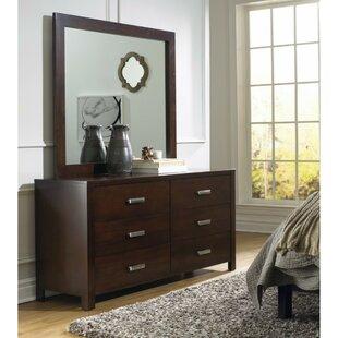 Mokane Wooden 6 Drawer Double Dresser