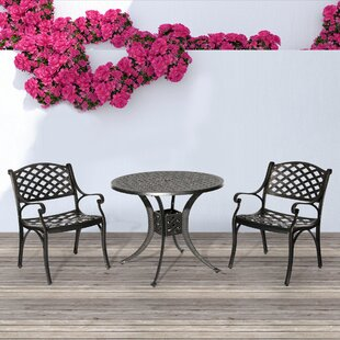 Greenawalt 3 Piece Bistro Set by Fleur De Lis Living