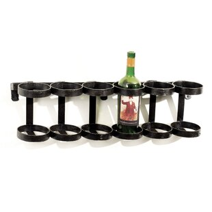 Beltran 6 Bottle Wall Mounted Wine Rack b..