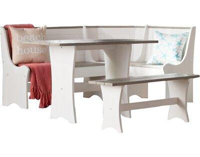 Miraculous Monroe 3 Piece Nook Dining Set By Beachcrest Home San Jose Inzonedesignstudio Interior Chair Design Inzonedesignstudiocom