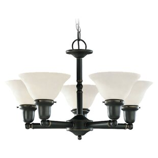 Darmstadt 5-Light Shaded Chandelier by Three Posts