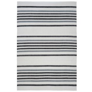 Hunnicutt Stripe Black/Gray Indoor/Outdoor Area Rug