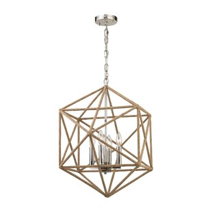 Reticuli 4-Light Chandelier by..