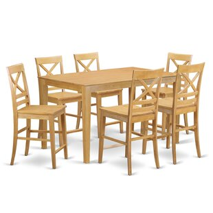 Smyrna 7 Piece Table Dining Set Charlton Home