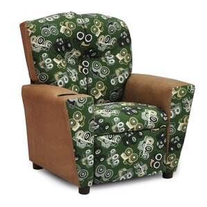 Mixy Kids Suede Recliner with Cup Holder and Storage Compartment by Kidz World