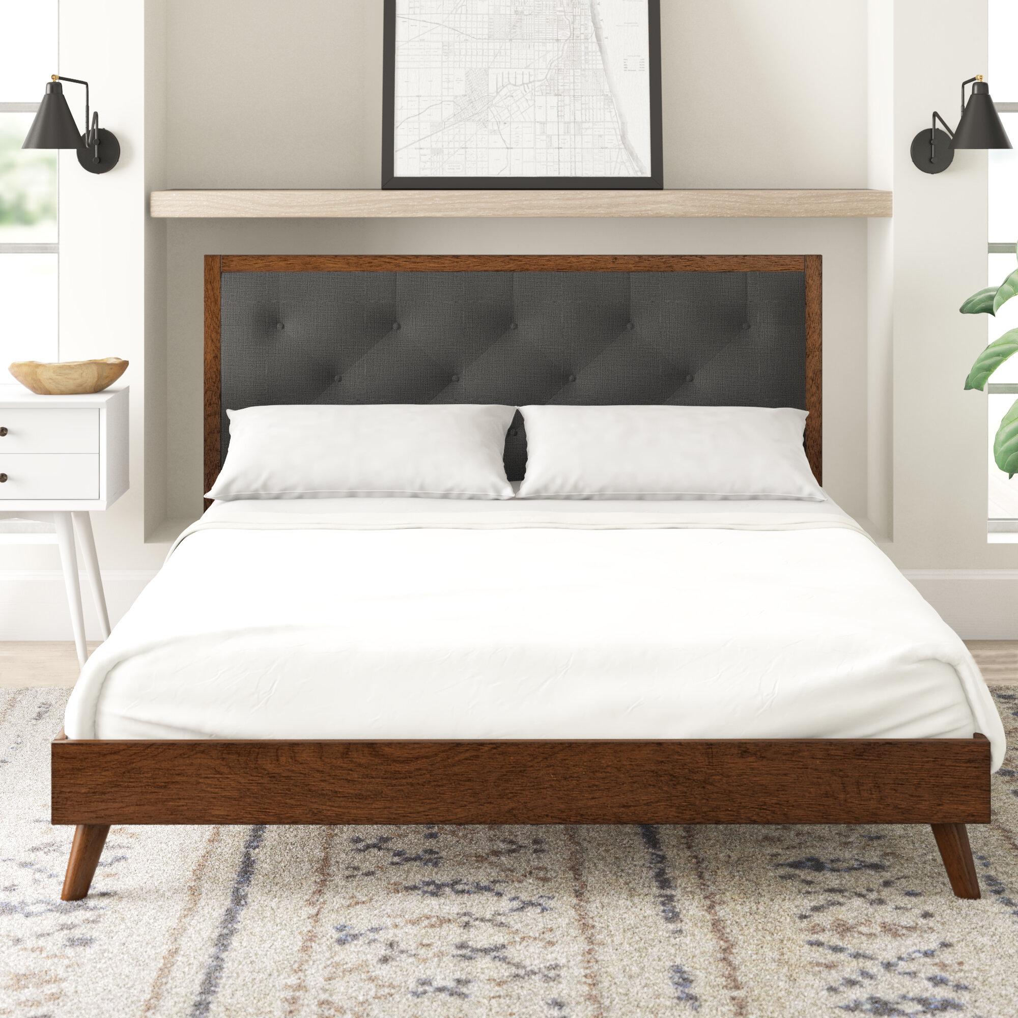 Picture of: Koda Upholstered Platform Bed Reviews