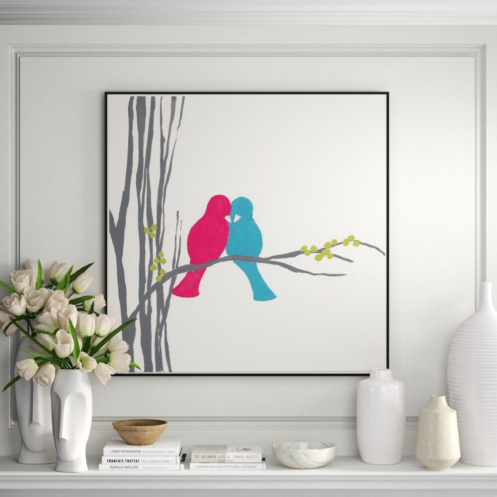 Jbass Grand Gallery Collection Bird Inspiration Ii Framed Graphic Art Print On Canvas Perigold