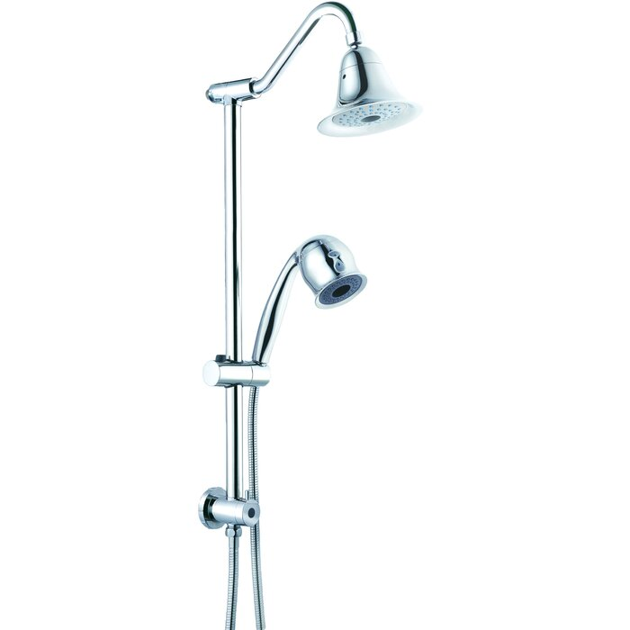 dual shower head bar. sliding rain dual shower head bar