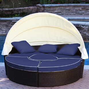 All-Weather 4 Piece Daybed Seating Group Set with Cushions
