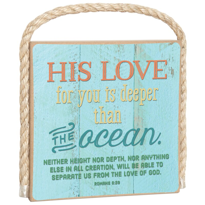 Gone Coastal His Love For You Christian Wall Décor
