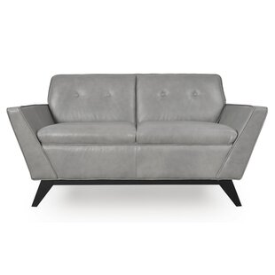 Kallistrate Leather Loveseat