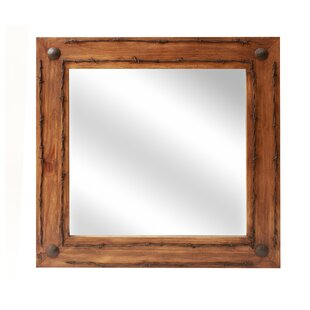 Lafollette Old Ranch Rustic Distressed BathroomVanity Mirror by Loon Peak
