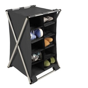 Order Free Standing Storage 10-Shelf X-Frame Compartment By Richards Homewares