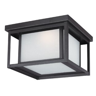 Affordable Meacham 1-Light Outdoor Flush Mount By Three Posts