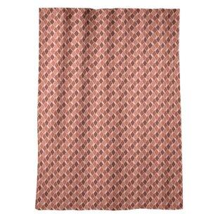 Avicia Retro Diamonds Window Geometric Room Darkening Thermal Rod Pocket Single Curtain Panel by Latitude Run