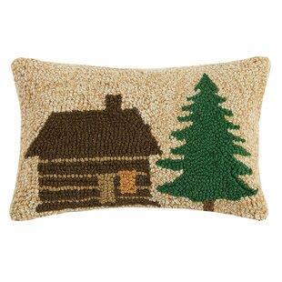 Swofford Lodge And Tree Wool Lumbar Pillow