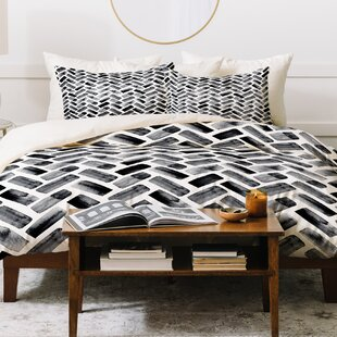 East Urban Home Little Arrow Design Co Arcadia Herringbone Duvet Set