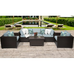 Meier Outdoor 6 Piece Sofa Seating Group With Cushions by Rosecliff Heights Savings