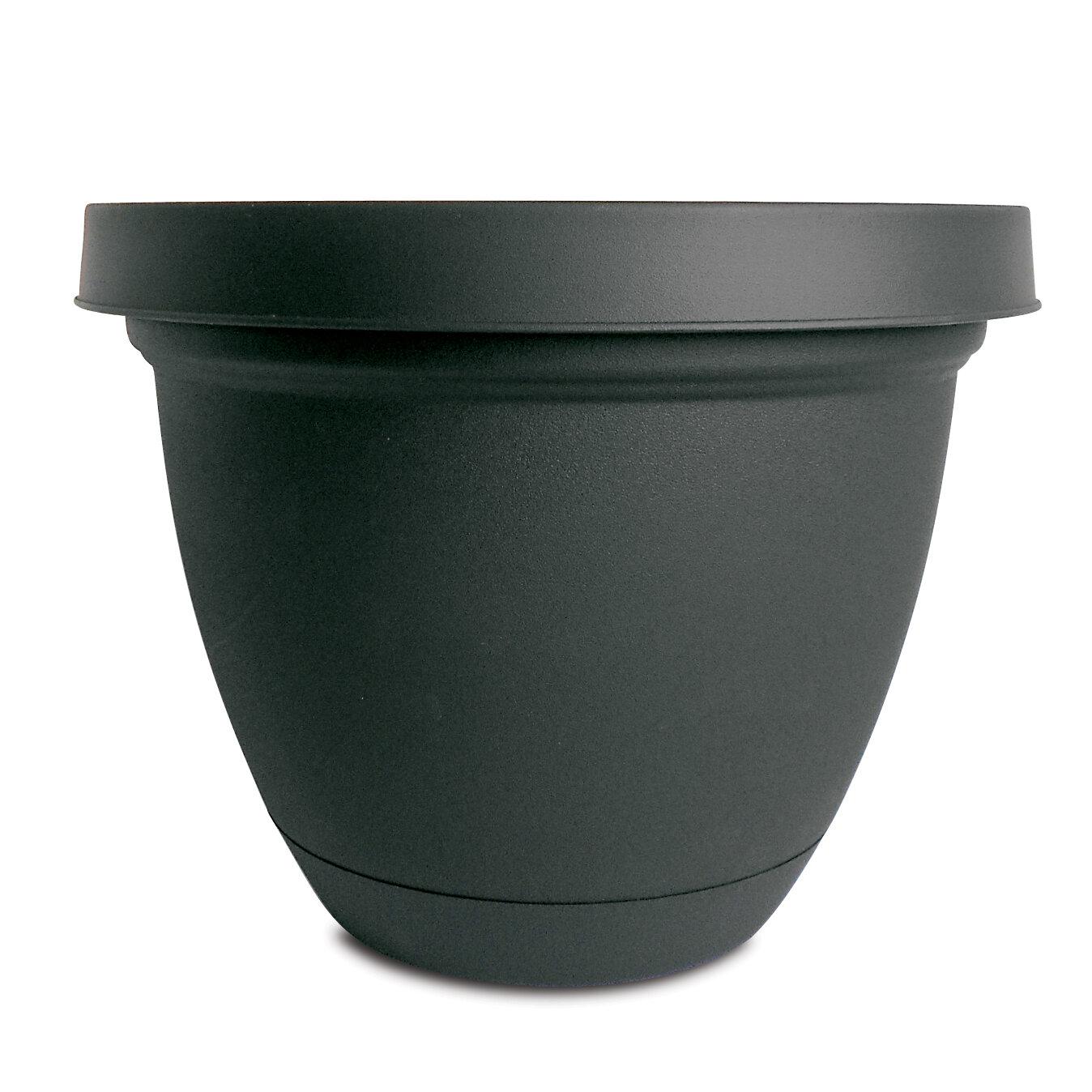 Akro Mils Lawn U0026 Garden Infinity Self Watering Vinyl Pot Planter With  Saucer | Wayfair