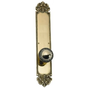 Fleur De Lis Privacy Door Knob by BRASS Accents
