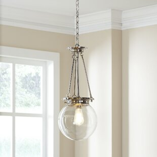 Glencoe 1-Light Globe Pendant by Birch Lane? Heritage