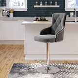 Bocana Adjustable Height Swivel Bar Stool by Mercer41