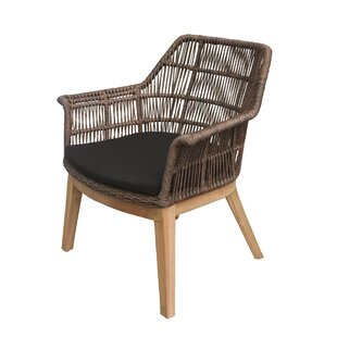 Bungalow Rose Marley Teak Patio Chair wit..