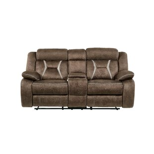 Gildardo Stitched Fabric Console Reclining Sofa by Red Barrel Studio
