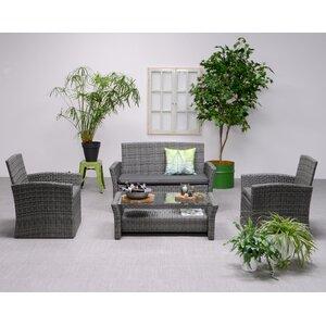 4-Sitzer Loungemöbel-Set Tahiti von Wildon Home