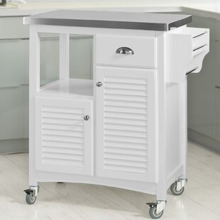 Nome Kitchen Cart With Stainless Steel Top By August Grove