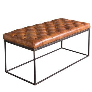 17 Stories Ann-Kathrin Leather Bench